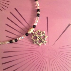 Jewelry - Handmade Beaded Necklace with Cross